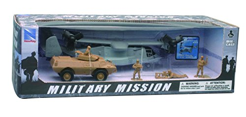 New Ray Bell Boeing V-22 Osprey with Armored Vehicle Set (V22 Model)
