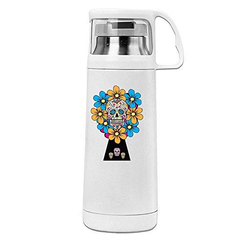 MeiXue Sugar Skulls Vacuum Cup Water Bottle White ()