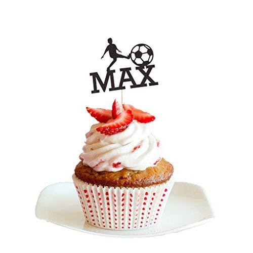 Plumeria Pick - 2018 World Cup Football Fan MAX Silhouette Cake Topper Cupcake Picks Decor