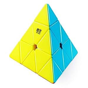 D-FantiX Qiyi Qiming Pyramid Stickerless Speed Cube Triangle Cube Puzzle