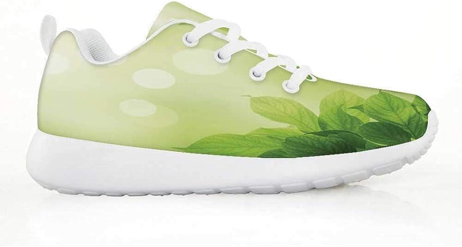 TecBillion - Zapatillas para Correr cómodas, Estilo Doodle Dibujo de Ranas alienígenas, con diseño de Dibujos Animados, para niños y niñas, EU29, (Multi 09), 34 EU: Amazon.es: Zapatos y complementos
