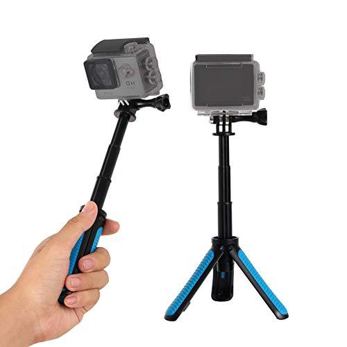 SHSHIHONG Mini Telescopic Handheld Pole Selfie Stick Tripod Handheld Monopod for Gopro Shorty GeekPro/GoPro HD Hero 7 6 5 4 3+ 3 2 1, AKASO, SJCAM SJ4000 SJ5000 and Most Action Camera(Blue)