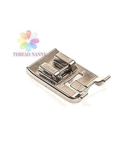 ThreadNanny Double Piping Sewing Machine Presser Foot - Fits All Low Shank Snap-On Singer*, Brother, Babylock, Euro-Pro, Janome, Kenmore, White, Juki, New Home, Simplicity, Elna and More! White Double Piping