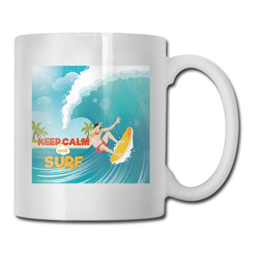 FOOOKLCalifornia Surfing Board Surf Wave 11oz Tea Cup Coffee - Table Forecast Lamp