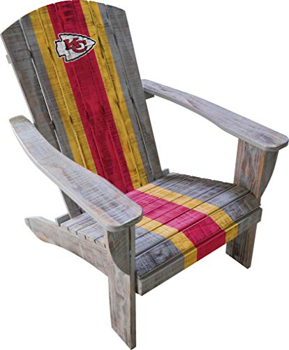 Imperial Officially Licensed NFL Furniture: Distressed Wooden Adirondack Chair, Kansas City Chiefs