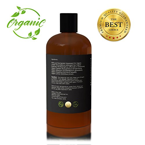 Massage Oil. Organic Anti-Cellulite Massage Oil. 100% Pure Plant Based Professional Cellulite Treatment. Reduces Appearance of Cellulite, Tones and Detoxifies Skin.
