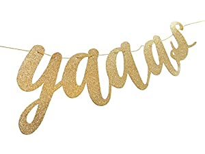 She Said Yaaas! Bridal & Bachelorette Party Banner Sign Gold from bachelorette.games