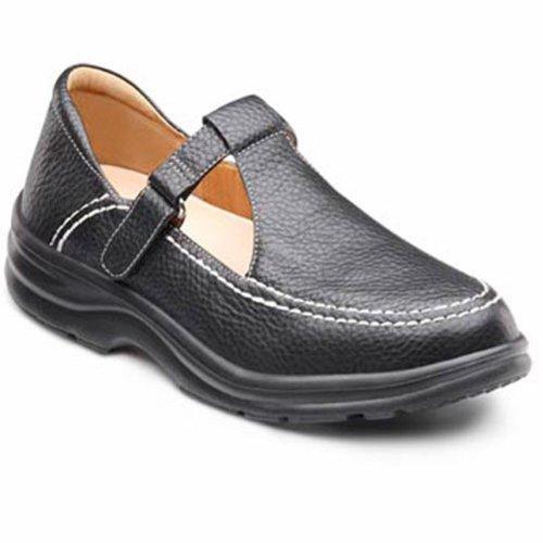 Dr. Comfort Vrouwen Lulu Zwart Diabetische Schoenen Van Mary Jane Zwart