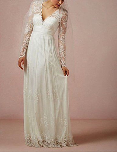 Amore Sleeves Bridal Elegant Lace Women's Long Wedding Purple Dress Bridesmaid Beach rnrqdTgxw