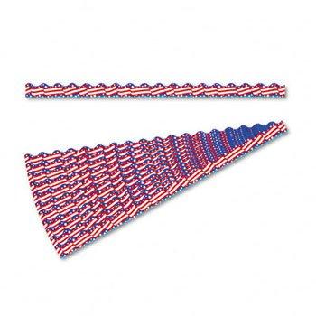 (Trend Terrific Trimmers Bright Border, 2 1/4 x 39 Panels, Americana, 12 per Pack (T92015))