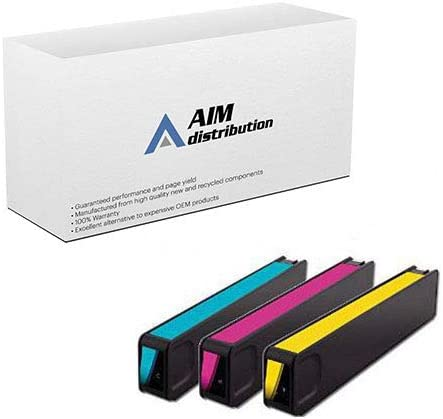 C//M//Y AIM Compatible Replacement for HP Enterprise OfficeJet X555//X585 Inkjet Combo Pack D8J0CMY - Generic NO. 980