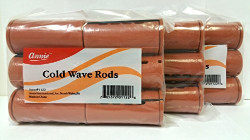 3 Packs of Annie Cold Wave Rods (Xtra Jumbo) #1122 6Pcs/Pack - Jumbo Perm Rods
