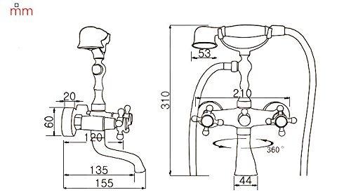 Vasca doccia rubinetto Suguword wall-mount due maniglie vasca rubinetto con doccetta nero olio strofinato bronzo finitura cromata
