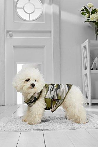[Small Dog Camo Tank Top Vest For Bichon Frise Dachshund Miniature Poodle Havanese (Small Size, green, black, gray, white,] (Mini Dachshund Halloween Costumes)