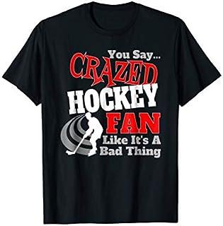 Cool Gift Funny Hockey  Ice Hockey  CRAZED HOCKEY FAN Women Long Sleeve Funny Shirt