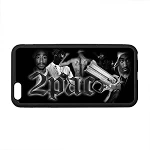 Custom 2PAC TUPAC SHAKUR Pattern Phone Case Laser Technology for iphone 6 4.7 Designed by HnW Accessories