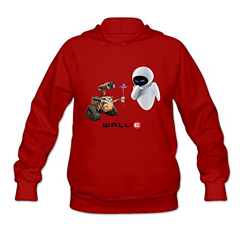 AOPO Wall E Women's Long Sleeve Hooded Sweatshirt / Hoodie XX-Large (Wall E And Eve Halloween Costumes)