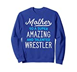 Unisex Wrestling Mother Sweatshirt for Wrestle Moms, Gift, Blue 2XL Royal Blue