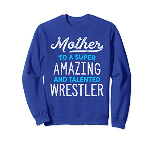Unisex Wrestling Mother Sweatshirt for Wrestle Moms, Gift, Blue 2XL Royal Blue by Wrestling Shirts and Wrestling Shoes