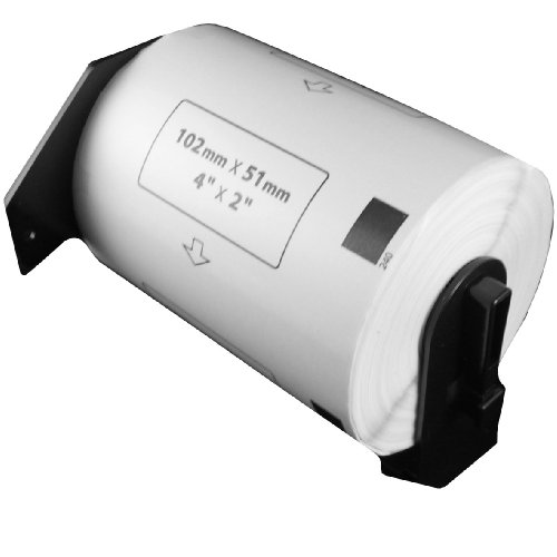 Brother DK-1240 Compatible 4'' x 2'' White Labels (600 per roll) by PAR70