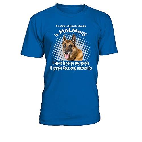Sous Royal Il shirt Grogne Jamais Aux T Malinois Patta Bleu Donne Estimez Homme Ne Face Le La Gentils qAwwtT