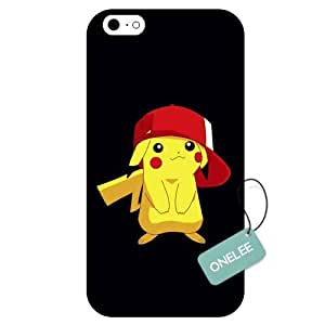 Onelee(TM) - Customized Pocket Monster Pok??mon Pikachu TPU Case Cover for Apple iPhone 6 - Black 01