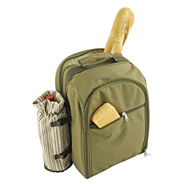 Expedition 4 Person Picnic Backpack in Green by True