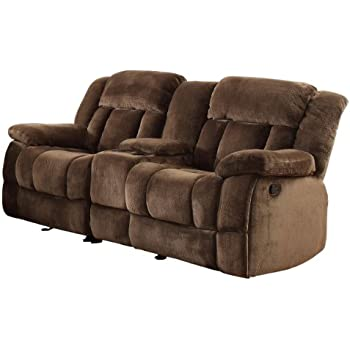 Homelegance 9636-2 Laurelton Textured Plush Microfiber Dual Glider Recliner Love Seat with Console  sc 1 st  Amazon.com & Amazon.com: Homelegance 9700FCP-2 Double Reclining Loveseat Brown ... islam-shia.org