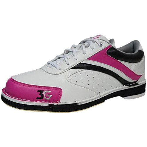 Damen Bowlingschuhe 3G Classic Pro mit Wechselsohle/-Hacke weiß/pink (US 11 (41))