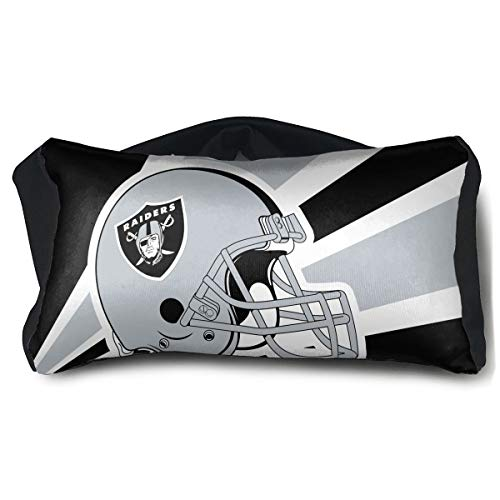Marrytiny Custom Colorful Small 2 in 1 Travel Pillow and Eye Mask Oakland Raiders Men Women Head Pillow Multi-Purpose Lightweight Blindfold Blackout Sleeping Mask Neck Pillow