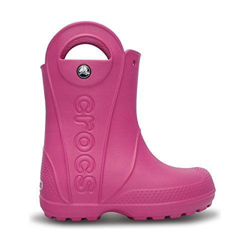 Price comparison product image Crocs Childrens/Kids Handy The Rain Wellington Boots (3-4 US) (Fuchsia)