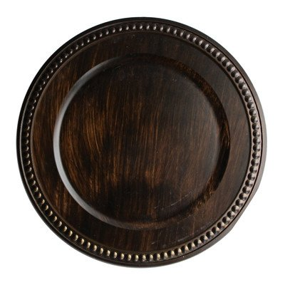 The Jay Companies Beaded Charger Plate, Brown