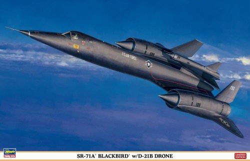 HAS02041 1:72 Hasegawa SR-71A Blackbird with D-21B Drone MODEL KIT by Hasegawa