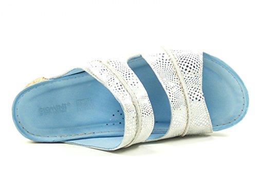 Gemini 032170-19 Chaussures Dames Mules Sabots Bleu