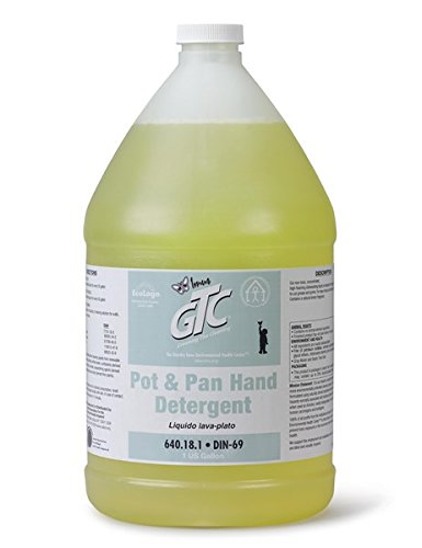 Greening The Cleaning - Concentrated - Pot & Pan Hand Detergent - Lemon Scent (Case of 4 Gallons) by Greening The Cleaning