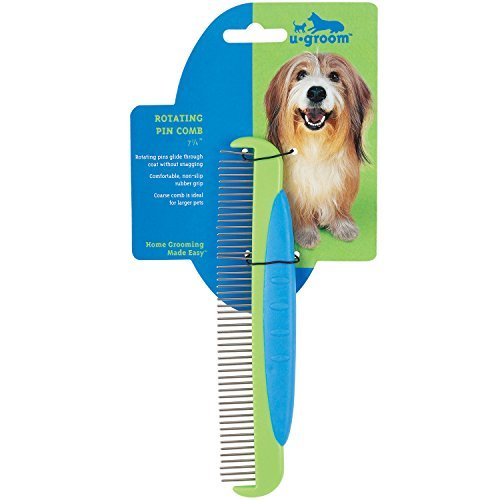 U groom redating Pin Combs Versatile Combs for Grooming Dogs, 5½ by UGroom