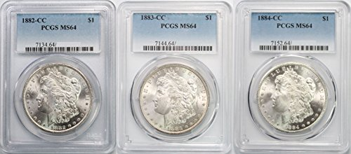 1882-1884 CC Morgan Silver Dollar MS64