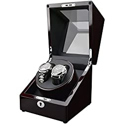 Zeiger Double Watch Winder for Large Watch Box Case with Quiet Automatic Japanese Mabuchi Motor Piano Paint s005