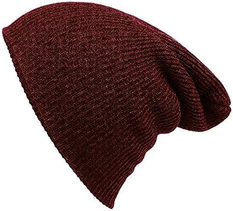 BHYDRY Unisex Gorra o pasamontaña de algodón Color Puro con ...
