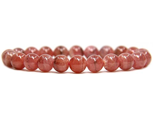 Natural Argentina Rhodochrosite Gemstone 8mm Round Beads Stretch Bracelet 7 Unisex
