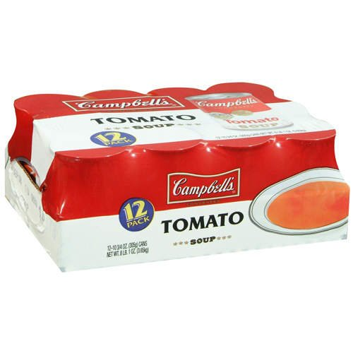 Campbell's Tomato Soup - 12/10.75 oz. cans - CASE PACK OF 2 (Campbells Tomato Soup)