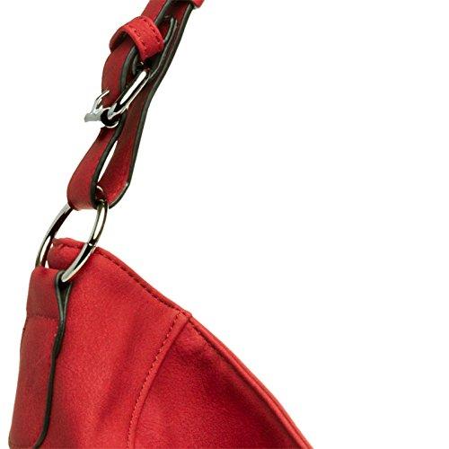 femme à TS917 messager rouge Sac coloris foncé l'épaule pour CASPAR à porté main Sac Plusieurs B84vSWqwS