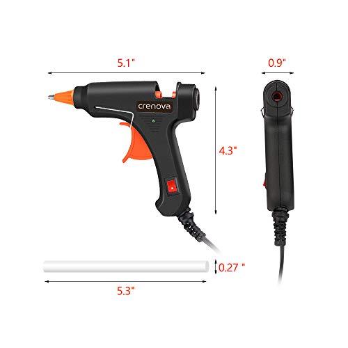 CRENOVA Hot Glue Gun, Glue Gun Kit with 60pcs Glue Sticks, High Temperature Melting Mini Glue Gun for DIY Small Projects, Arts and Crafts, Home Quick Repairs,Artistic Creation(20 Watts) by CRENOVA (Image #1)