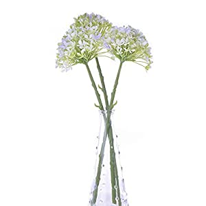 MARJON FlowersFaux Flowers Bulk 3 PCS Fake Flowers Hydrangea Mini Plastic Floral Bouquet Flowers Arrangements Artificial Plants for Home Decor Purple Artificial Flowers Centerpieces for Dining Room 75