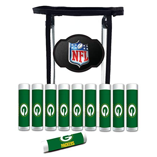 - NFL Green Bay Packers Lip Balm Gift Set for Men and Women 10-Pack | SPF 15, Beeswax, Coconut Oil, Aloe Vera, Cool Mint Flavor