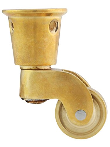 House of Antique Hardware R-08SE-2217395-UL Solid Brass Round-Cup Caster with 3/4
