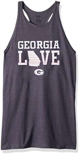 Soffe NCAA Georgia Bulldogs Women's Core Tank, X-Large, Grey Heather