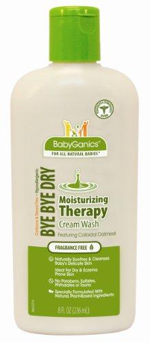 BabyGanics Bye Bye sec Nettoyant hydratant de thérapie, 8 once liquide (pack de 2)