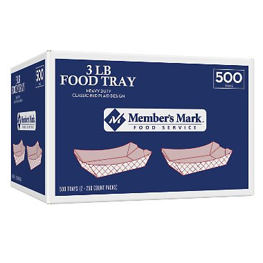 Member's Mark 3 lb. Capacity Food Tray (500 ct.) by Member's Mark
