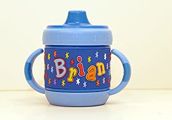 52db3d444e0 Amazon.com : Personalized Sippy Cup: Brian : Baby Drinkware : Baby